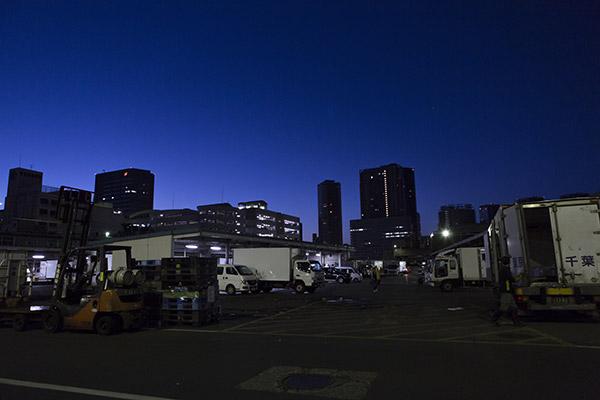 深夜の築地市場