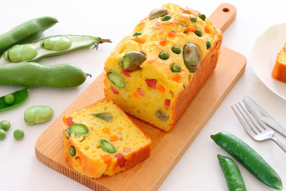 春野菜のケークサレ