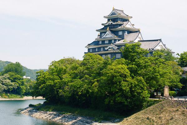 岡山城写真