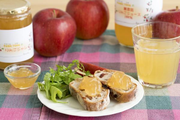 ファームトヤのりんごジュースとりんごジャム